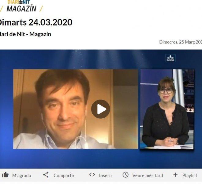 Entrevista a Xavi Amat de Lleida TV sobre la teràpia online