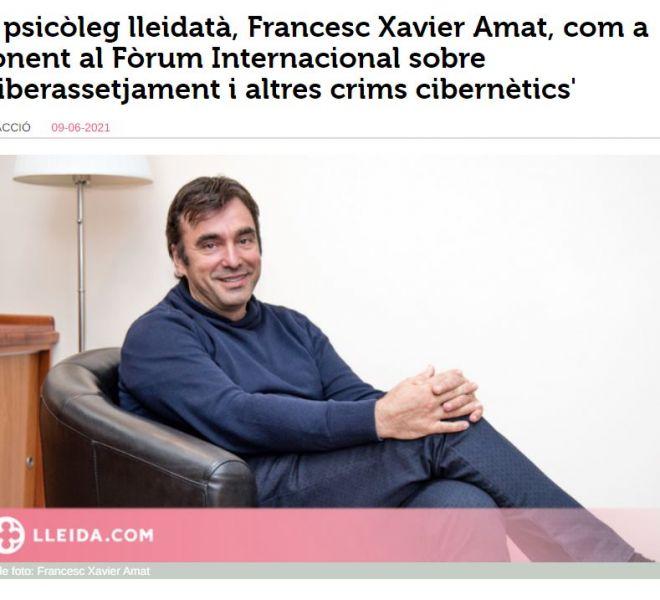 Xavier Amat a la ponència 'Ciberassetjament i altres crims cibernètics'